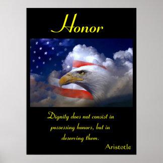 Águila 8 de los posters del honor