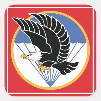 águila aerotransportada del sur de Vietnam Calcomania Cuadradas Personalizada