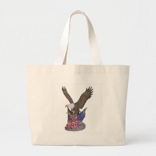 águila americana bolsa tela grande