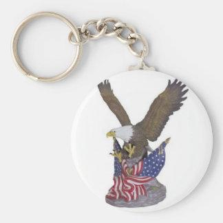 águila americana llavero redondo tipo pin