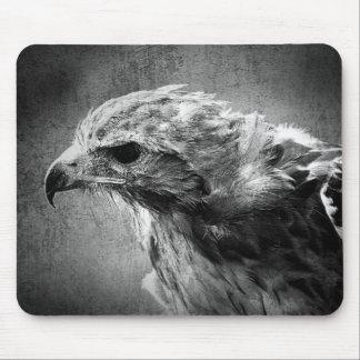 Águila blanco y negro tapete de raton