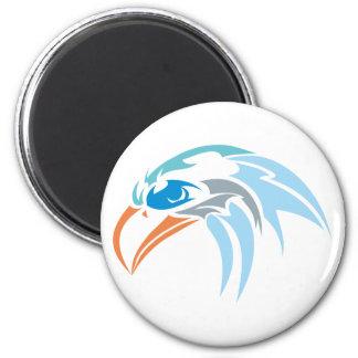Águila cabeza Eagle head Imán Redondo 5 Cm
