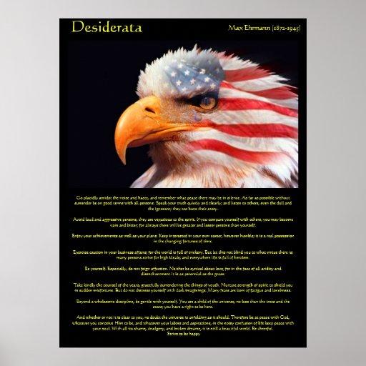 Águila calva 1Posters de los desiderátums Poster