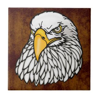 Águila calva americana azulejo cuadrado pequeño