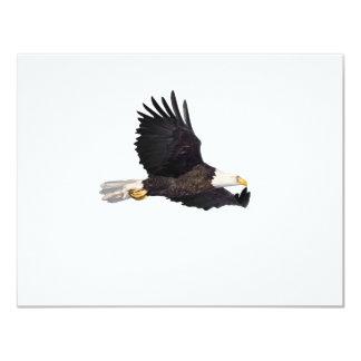 Águila calva americana invitación 10,8 x 13,9 cm