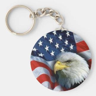 águila calva americana llavero redondo tipo pin