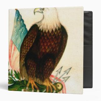 Águila calva con la bandera