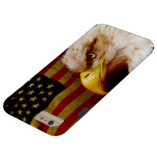 Águila calva con la bandera funda para iPhone 6 plus tough