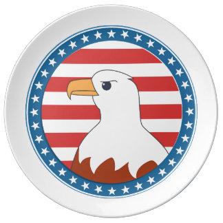 Águila calva de los E.E.U.U. Platos De Cerámica