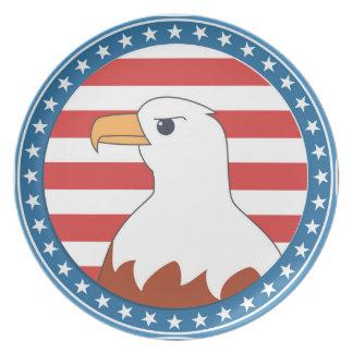 Águila calva de los E.E.U.U. Plato De Cena