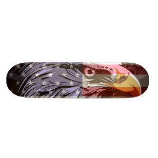 Águila calva de PixDezines/bandera americana Patin