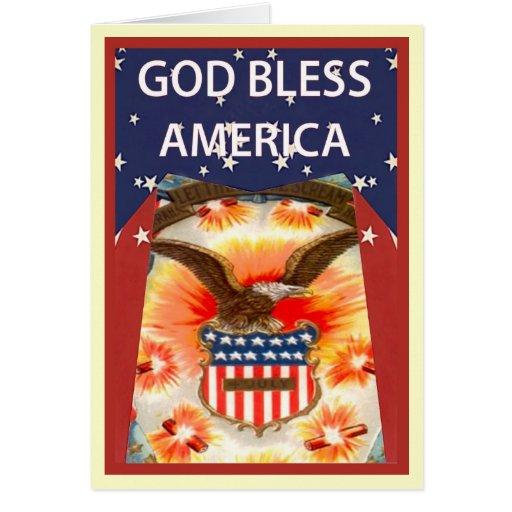 Águila calva e insignia de los E.E.U.U. Tarjeta De Felicitación