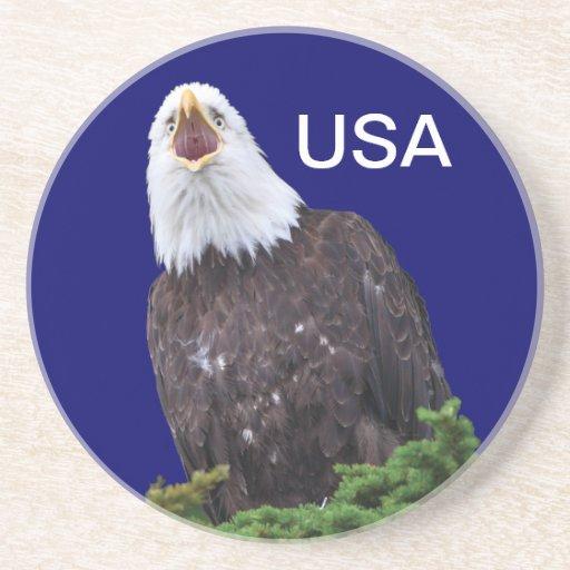 águila calva posavasos diseño