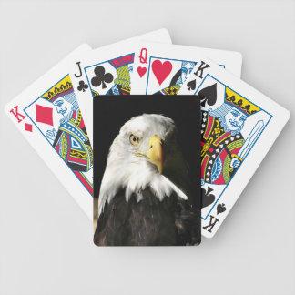 Águila calva sombreada baraja de cartas