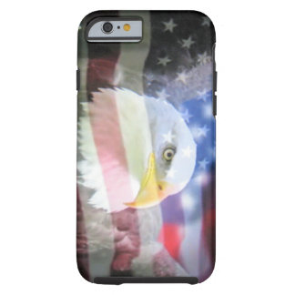 águila calva y bandera de los E.E.U.U. Funda Para iPhone 6 Tough
