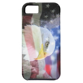 águila calva y bandera de los E.E.U.U. Funda Para iPhone 5 Tough