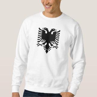 Águila dirigida doble albanesa sudaderas encapuchadas