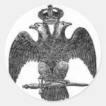 águila Doble-dirigida Pegatina Redonda