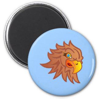 Águila Eagle cabeza head Imán Redondo 5 Cm
