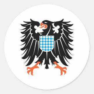 Águila escudo de armas Baviera Eagle crest Bavaria Pegatina Redonda