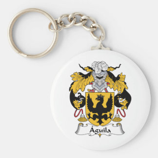 Aguila Family Crest Keychain