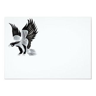 "Águila heráldica invitación 5"" x 7"""