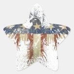 Águila patriótica, US/USA, bandera TRISTE Calcomanías Forma De Estrella