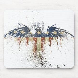 Águila patriótica, US/USA, bandera TRISTE Tapetes De Raton