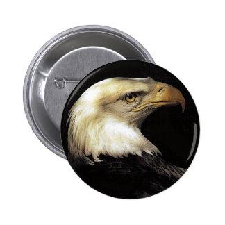 águila pin redondo de 2 pulgadas