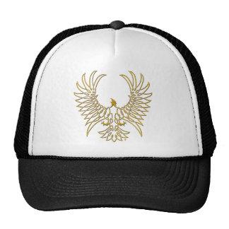 águila que sube, oro gorras