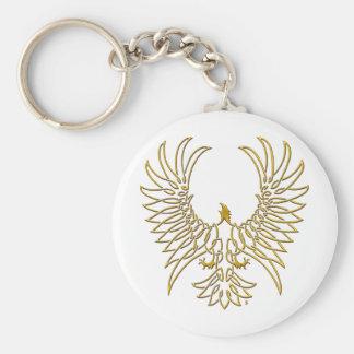 águila que sube, oro llavero redondo tipo pin