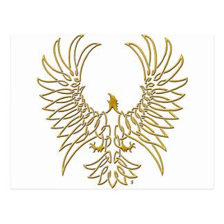 águila que sube, oro postales