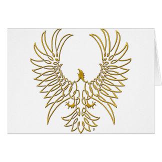 águila que sube, oro tarjeta de felicitación