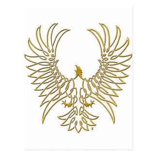águila que sube, oro tarjetas postales