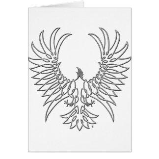 águila que sube, plata tarjeta de felicitación