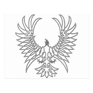 águila que sube, plata tarjeta postal