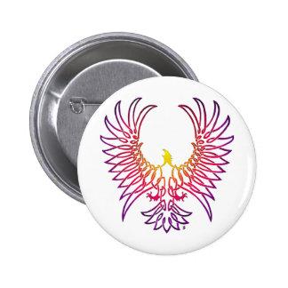 águila que sube, sunglow pin redondo de 2 pulgadas