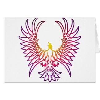 águila que sube, sunglow tarjeta de felicitación