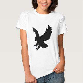Águila sólida del aterrizaje y del éxito remera