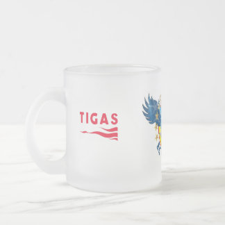 "Águila vaso ""Laso"" Tigas logo Taza De Café Esmerilada"
