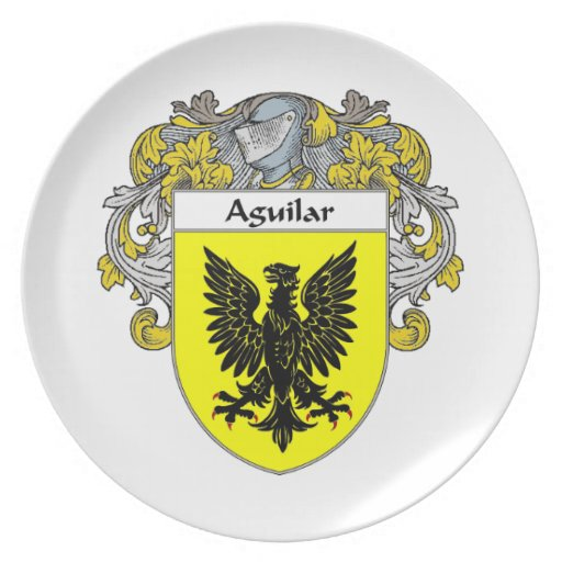 Aguilar Coat of Arms/Family Crest: Party Plates
