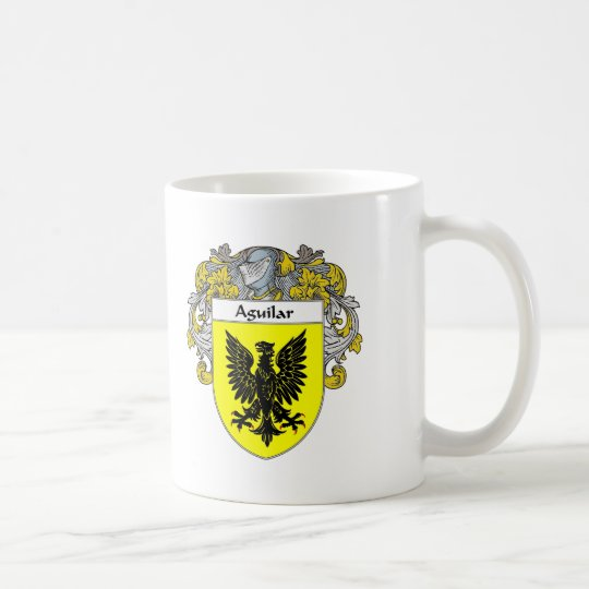 Aguilar Coat of Arms (Mantled) Coffee Mug