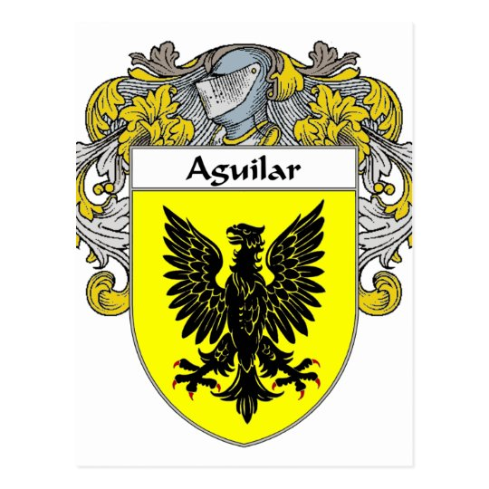 Aguilar Coat of Arms (Mantled) Postcard