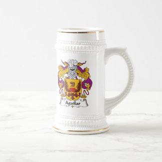Aguilar Family Crest Beer Stein