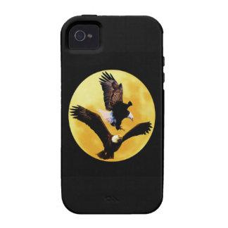 Águilas calvas y Luna Llena Case-Mate iPhone 4 Fundas