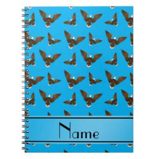 Águilas conocidas personalizadas del azul de cielo libretas