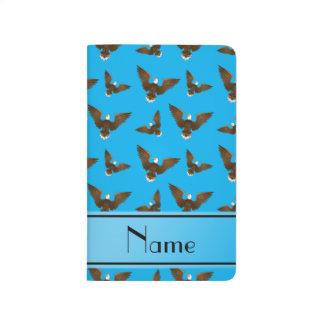 Águilas conocidas personalizadas del azul de cielo cuadernos