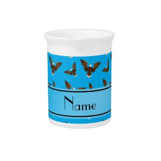 Águilas conocidas personalizadas del azul de cielo jarra de beber