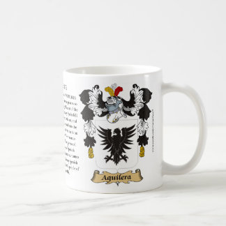 Aguilera, the Origin, the Meaning and the Crest Mu Coffee Mug