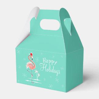 Aguilón de la caja del favor del flamenco del cajas para detalles de boda
